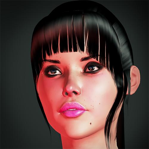 Nicole 3D holo girl